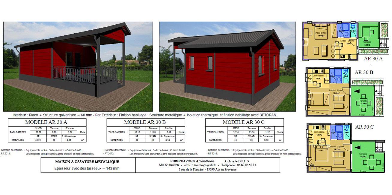 Prix Maison Ossature Metallique Clé En Main construction de maison à ossature métallique - maisons