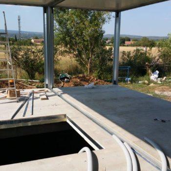Construction maison modulaire avec fondation 2