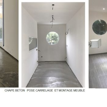 ETAPE 5 chape beton carrelage